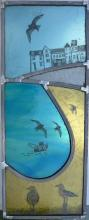 Justine Dilks - contemporary stained and fused glass panel