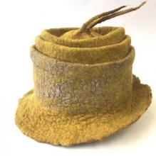 Wet Felted Hat by student of Penny Jane Designs