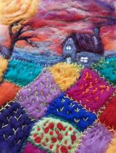 Wet felting with needle felting and embroidery detail