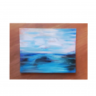 Abstract Lake  - Combined materials on board