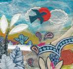 Take Flight Textile art
